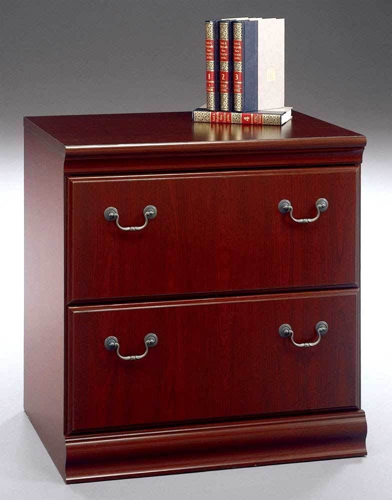 Harvest Cherry Stained Lateral File Cabinet