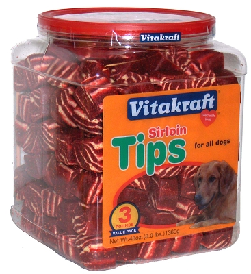 Vitakraft Sun Seed 20548 Sirloin Tips Real Beef Treat, 48 oz Jar
