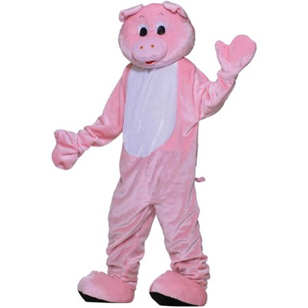 Pig Mascot Adult Halloween Costume, Size: Men's - One Size - Pig Costume Halloween