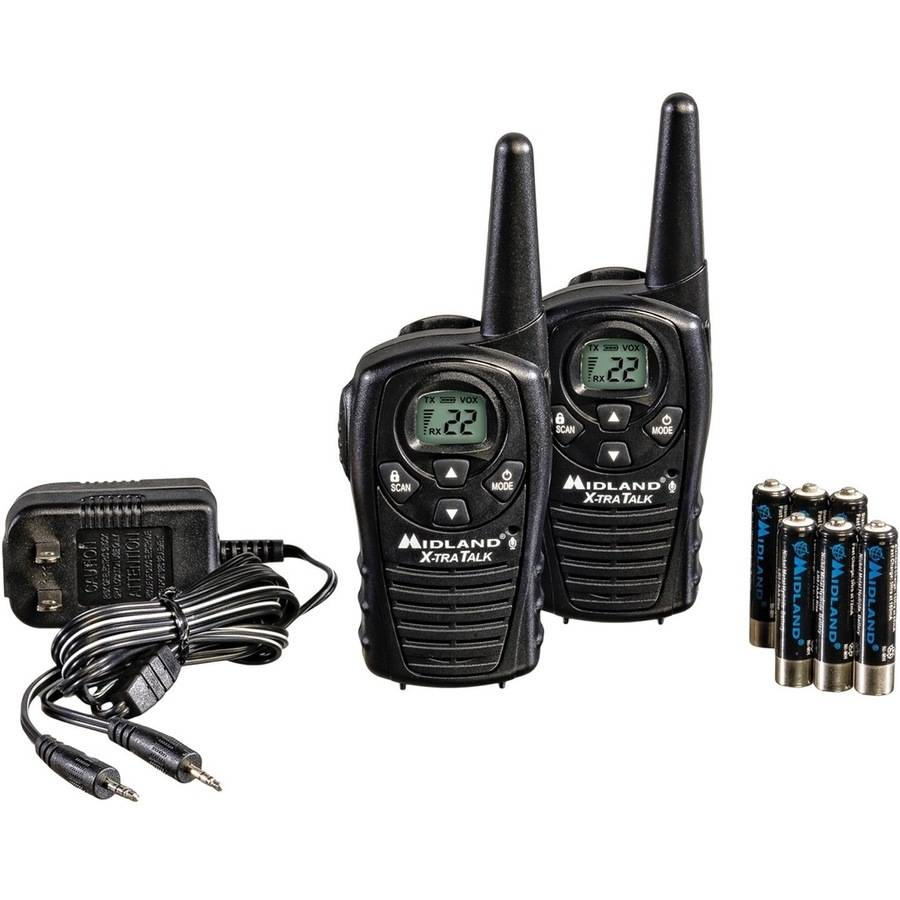 Midland GMRS 2-Way Radio with 22 Channels Value Pack, LXT118