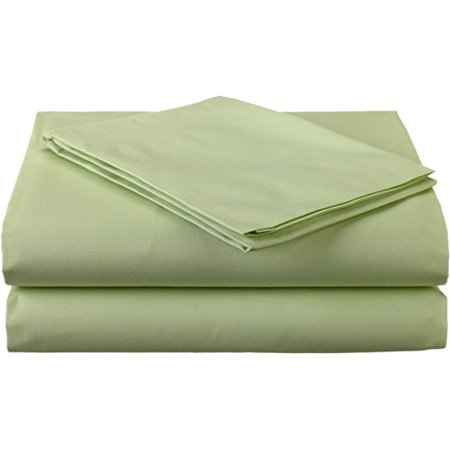 TL Care Cotton Percale 3-Piece Toddler Bedding Sheet Set, for boys and girls, Celery