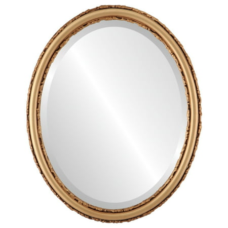 The Oval and Round Mirror Store Virginia Framed Oval Mirror in Gold Spray - Halloween Stores In Virginia