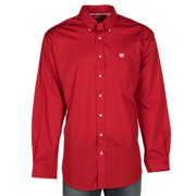 Cinch Mens   Pinpoint Oxford Buttondown Shirt X-Large Red