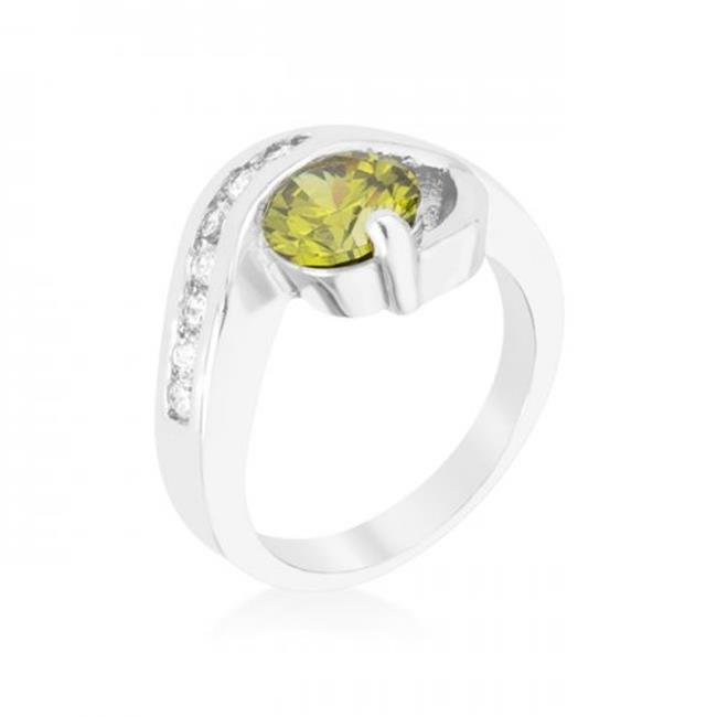 Icon Bijoux R08365R-C42-07 Olive Cubic Zirconia Twist Ring (Size: 07)