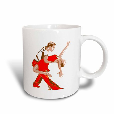 3dRose Print of Cartoon Salsa Couple, Ceramic Mug, 11-ounce for $<!---->