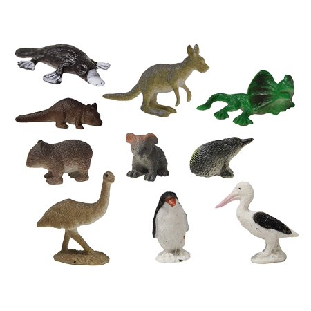 - Australian Animal Figurines - Mini Action Figures Replicas - Miniature Animal Playset