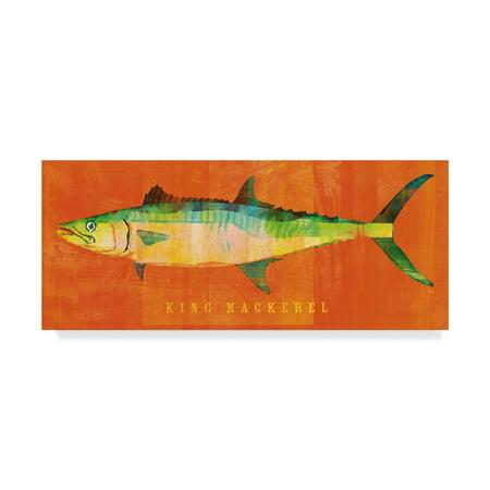 King Mackerel (Trademark Fine Art 'King Mackerel' Canvas Art by John W.)