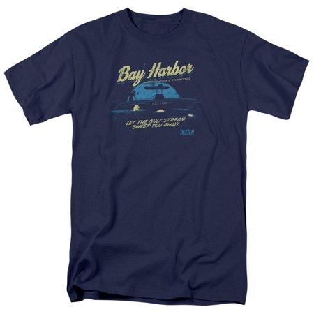Dexter Crime Drama TV Series Showtime Moonlight Fishing Adult T-Shirt