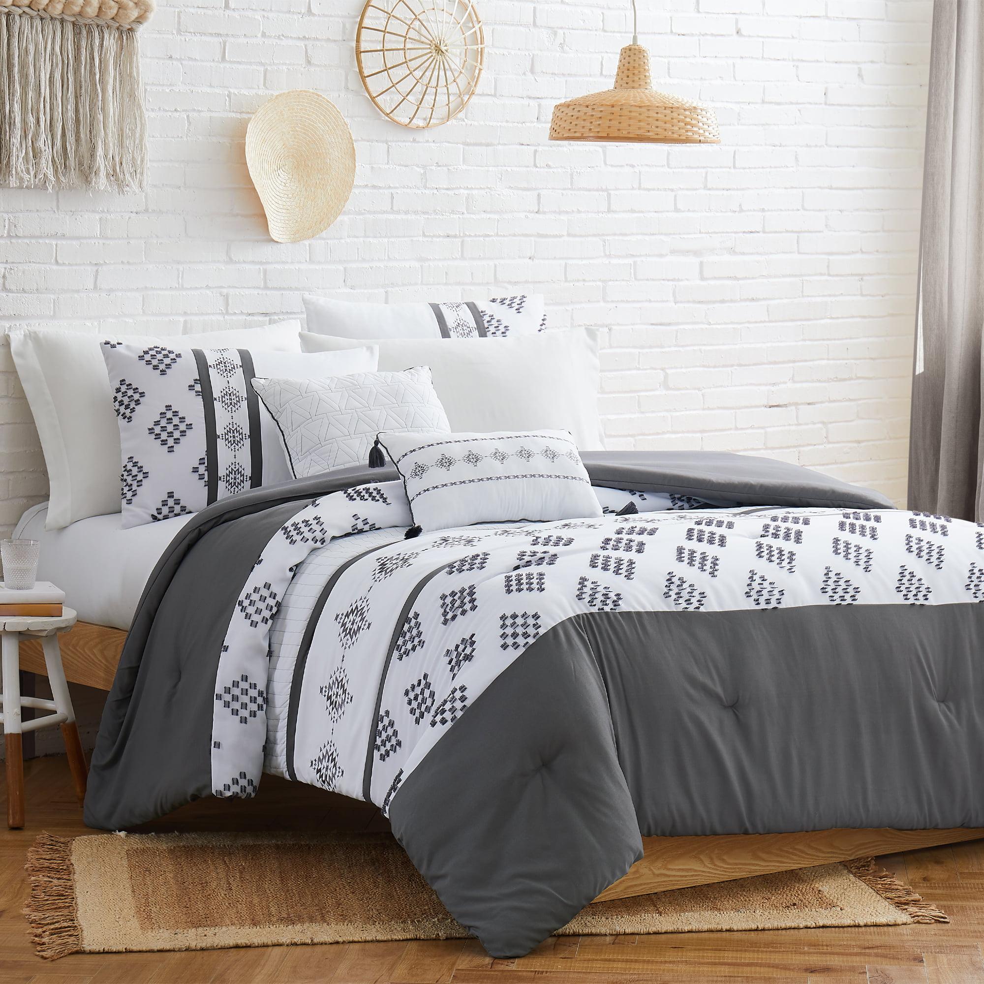 Modern Threads Embroidered 5 Piece Comforter Set Highland Queen Walmart Com Walmart Com