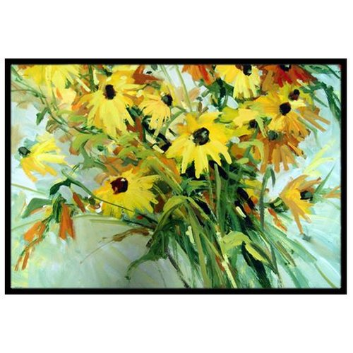 Caroline's Treasures Wildflower Bouquet Flowers Doormat