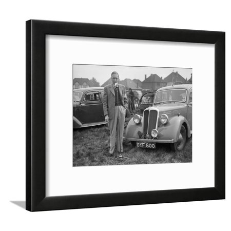 1937 Standard Twelve at the Standard Car Owners Club Gymkhana, Ace of Spades, Kingston Bypass, 1938 Framed Print Wall Art By Bill Brunell ()
