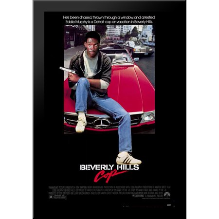 Beverly Hills Cop 28X40 Large Black Wood Framed Print Movie Poster Art