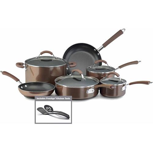 Farberware Millennium Colors Nonstick Aluminum 12-Piece Cookware Set