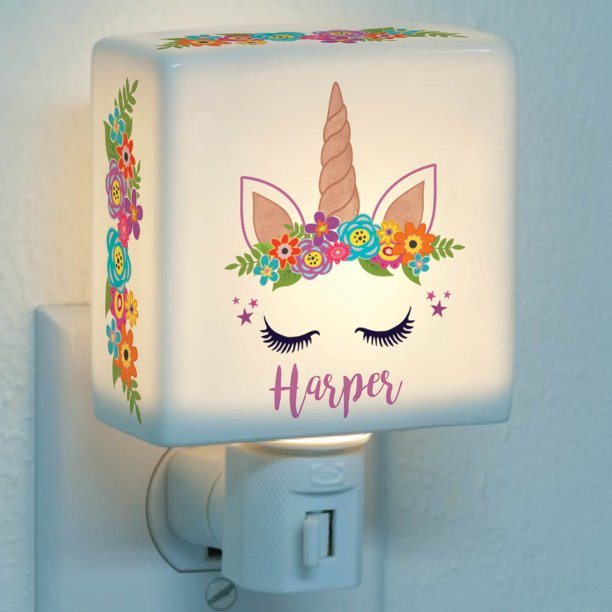 Happy Unicorn Personalized Night Light Walmart Com Walmart Com