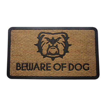 Amber Home Goods Beware Of Dogs Floormat Size 30 x 18