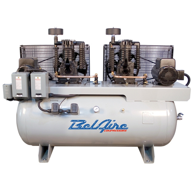 BelAire 3312D4 460-Volt 5-HP 120-Gallon Electric Duplex Air Compressor