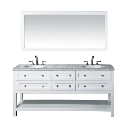 Stufurhome Marla 72 inch Double Sink Bathroom Vanity with ...