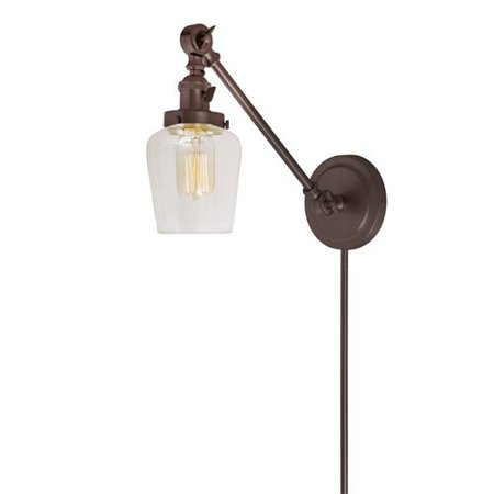 Gracie Oaks Martucci Double Swivel 1 Light Swing Arm Lamp