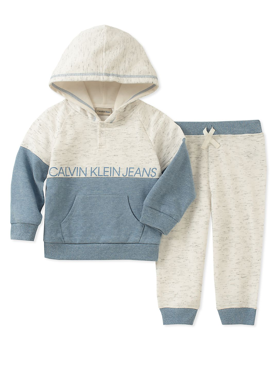 Baby Boy's Two-Piece Colorblock Logo Hoodie & Sweatpants Set