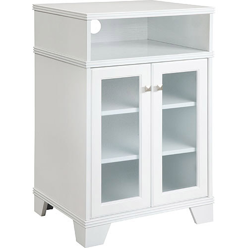Ameriwood Industries Altra Highboy Tv Stand In High Gloss White