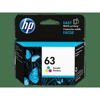 HP 63 Ink Cartridge, Tri-color (F6U61AN)