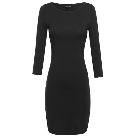 FashionOutfit Women's Everyday Lounging Fitted Dress Fitted Wiggle Dress