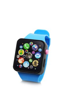 Children Multi-function Toy Watch Touch Screen Smartwatch Wristwatch for Early Education Blue Watch Strap