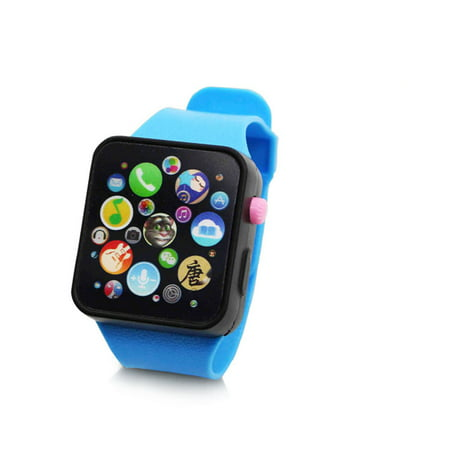 Children Multi-function Toy Watch Touch Screen Smartwatch Wristwatch for Early Education Blue Watch