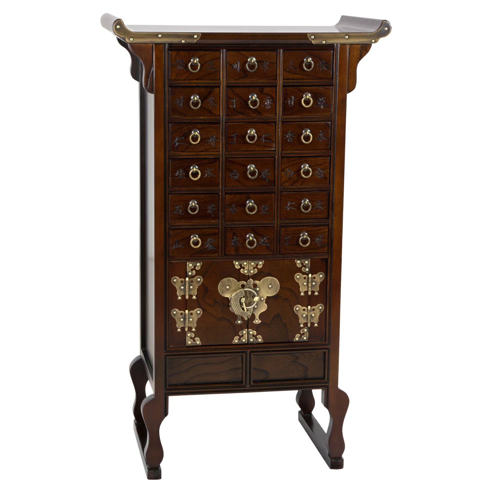 Oriental Furniture Korean Style 18 Drawer Herbal Medicine Apothecary Chest