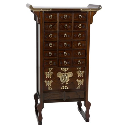 Oriental Furniture Asian Furniture (Oriental Furniture Korean Style 18 Drawer Herbal Medicine Apothecary Chest )