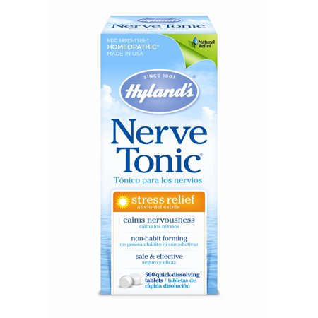 Hyland's Homeopathic Stress Relief Nerve Tonic Quick Dissolving Tablets, 500 Ct - Nervine Tonic