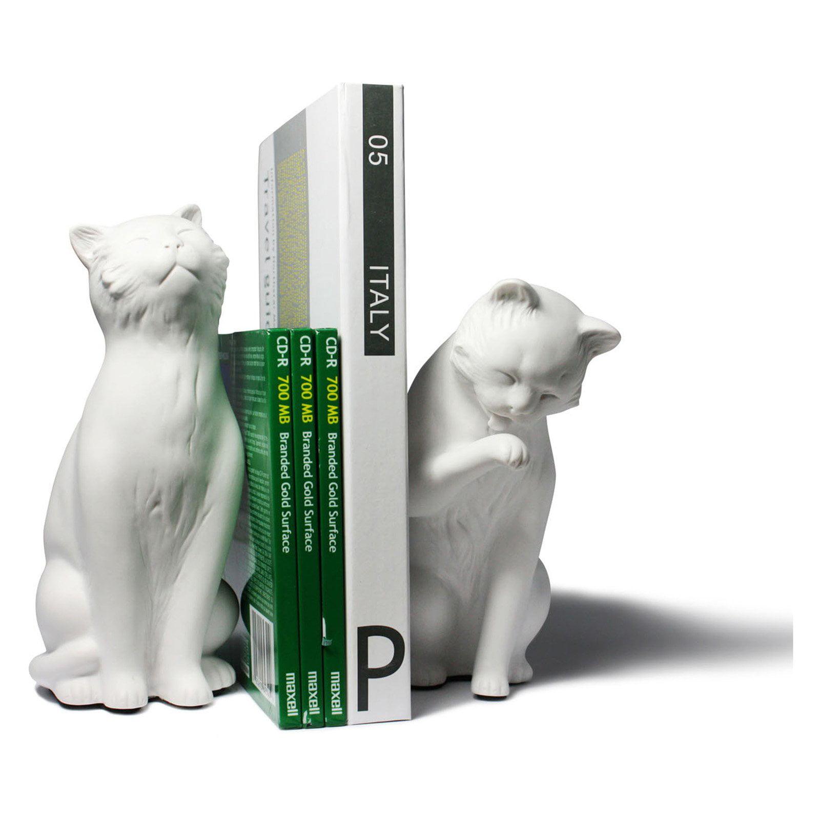 Danya B White Cat Bookend Set of 2 by Danya B.