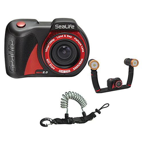 SeaLife Micro 2.0 16mp WiFi Underwater Camera 64GB w  Sea Dragon Duo 3000F Se... by SeaLife