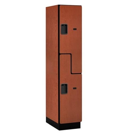 Salsbury 27161CHE Extra Wide Designer Wood Locker Double Tier S Style - 1 Wide - 6 Feet High - 21 Inches Deep -