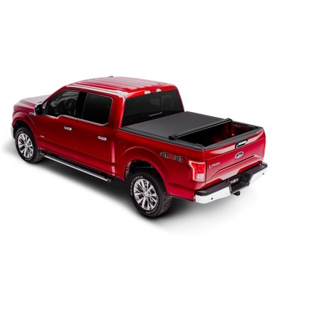 Truxedo 1498301 Tonneau Cover PRO X15 Soft Roll-Up Velcro; Lockable Using Tailgate Handle Lock; Matte Black; Woven Fabric - image 1 of 2