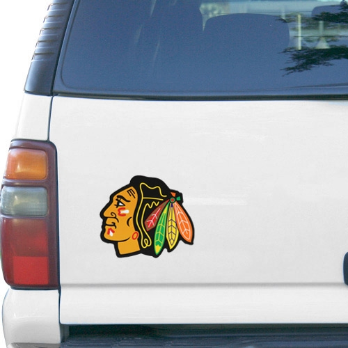 "Chicago Blackhawks WinCraft Primary 6"" x 9"" Car Magnet - No Size"