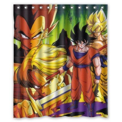 Deyou dragon ball z hot shower curtain polyester fabric for Dragon ball z bathroom