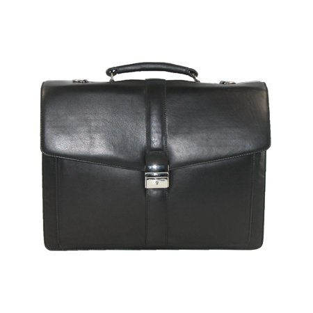 Size one size Men's Leather Laptop Portfolio Briefcase, (Top Flap Portfolio Briefcase)