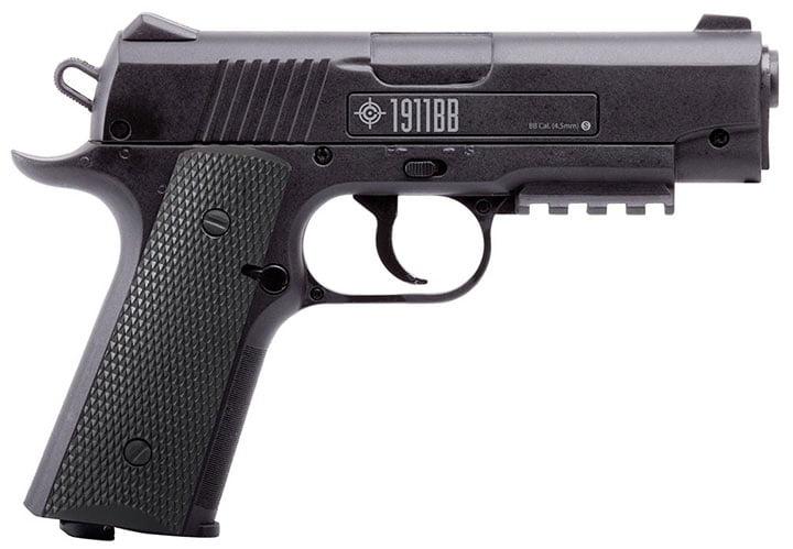 Crosman 1911BB .177 Caliber Semi-Auto CO2 Air Pistol, 480fps by Crosman