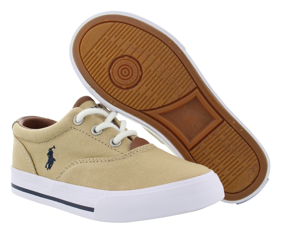 Polo Ralph Lauren Brisbane Ii Canvas Shoes White Navy
