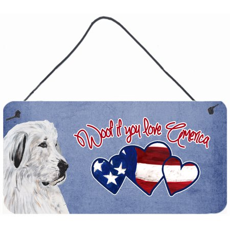 Woof if you love America Great Pyrenees Wall or Door Hanging Prints SC9914DS612