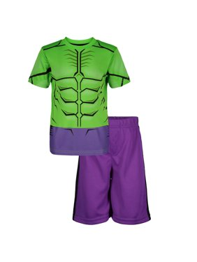 63e4278ce Free shipping on orders over $35. Free pickup. Best Seller. Product Image  Marvel Avengers Hulk Little Boys' Athletic T-Shirt & Mesh Shorts Set, Green