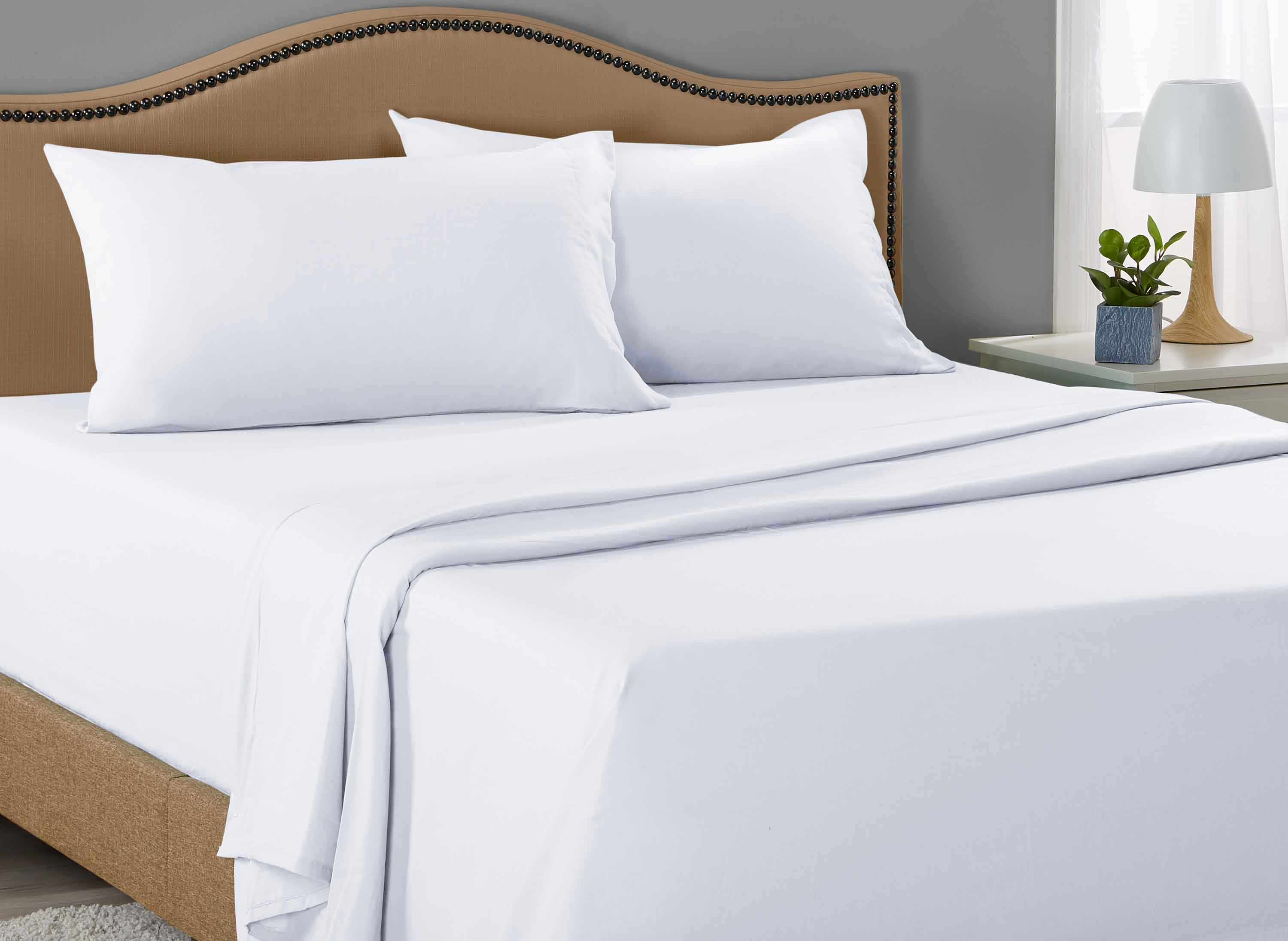 Mainstays 300 Thread Count  flat Sheet white twin white