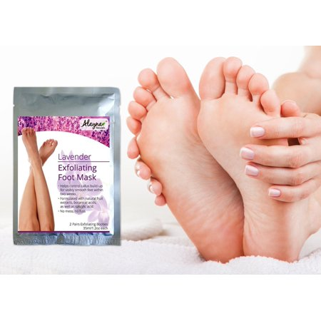 Deep Exfoliating Foot Mask - Best Natural Exfoliating, Hard & Dead Skin, Calluses Peeling Mask for