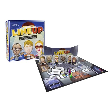 LineUp - Stimulating Memory Board Game with a Great Playing Time and Comical Crime Mystery Suspense for Ages 8 and Up, ENTERTAINING AND.., By MindWare Crime Mystery Game