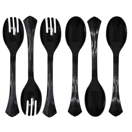 Set Of 6 Heavy Duty Disposable Plastic Serving
