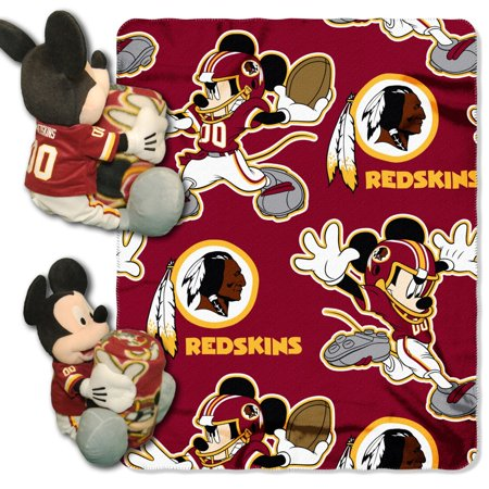 Nfl Decor (Disney NFL Washington Redskins Hugger Pillow and 40