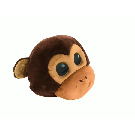Plush Monkey Cute Animal Ape Overhead Primate Mask Adult Costume Accessory Funny](Funny Animal Masks)