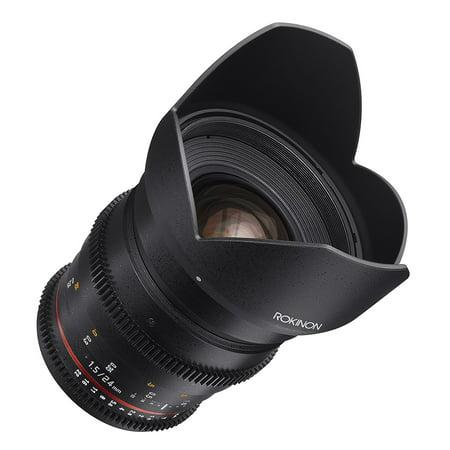 Rokinon Cine DS DS24M-N 24mm T1.5 ED AS IF UMC Full Frame Cine Wide Angle Lens for Nikon