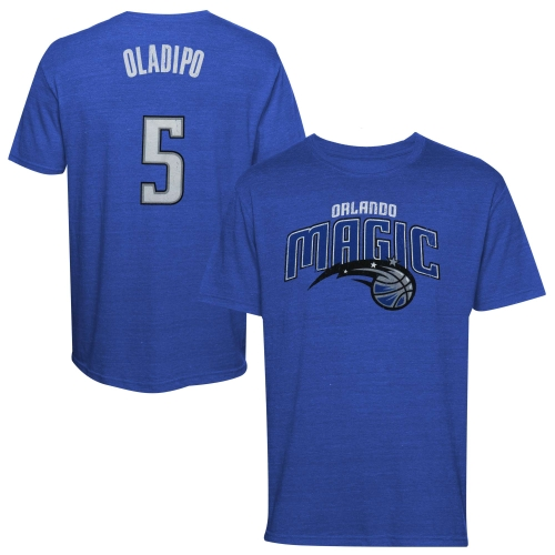 Majestic Threads Victor Oladipo Orlando Magic Name and Number Premium Tri-Blend T-Shirt - Royal Blue